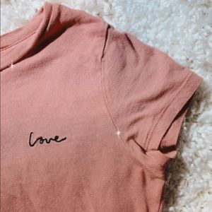 embroidery LOVE top🥺💞